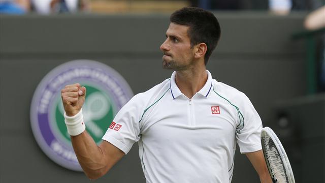 Djokovic thumps Mayer to set up Federer semi