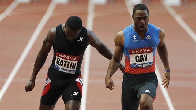 Gay beats Gatlin, Bekele's Olympic hopes hurt in Paris