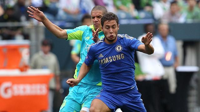 Hazard lights up Chelsea win over Seattle