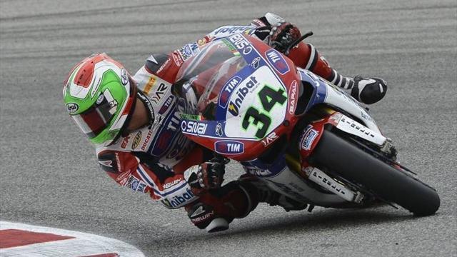 Ducati duo head Brno session