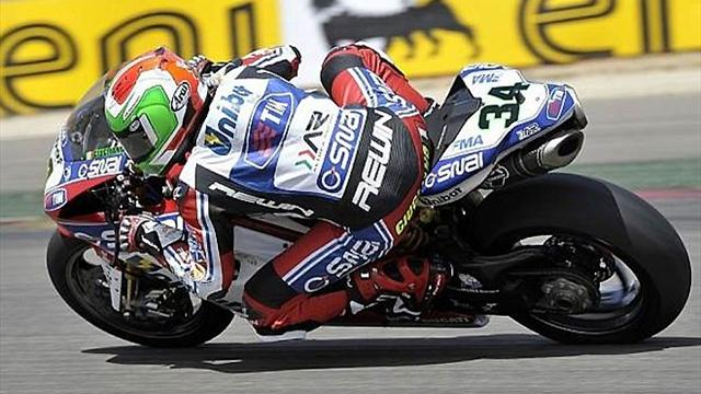 Giugliano top in first Brno qualifying