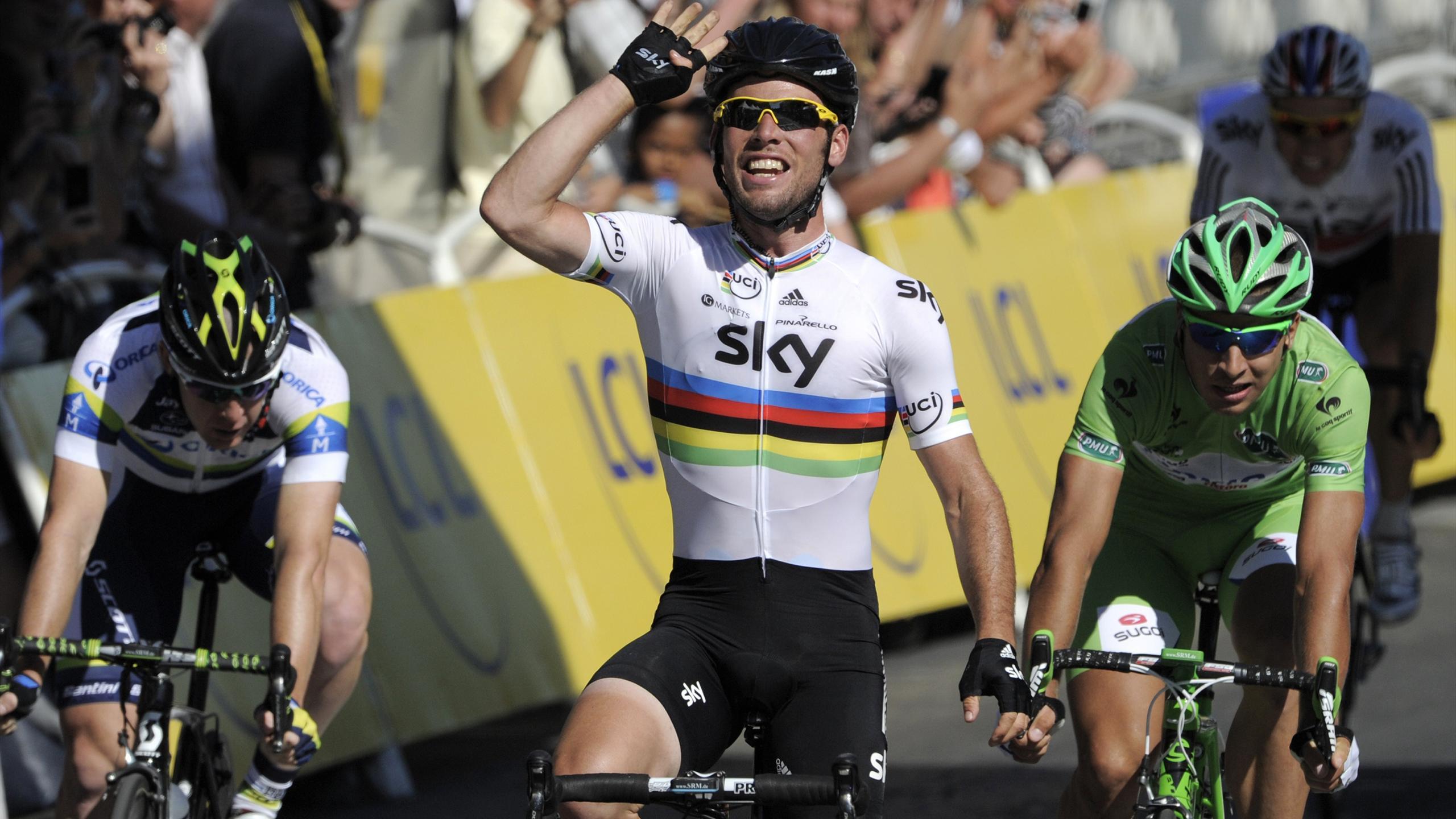 L'incroyable doublé, Wiggins et arc-en-ciel : les quatre merveilles de Cavendish sur les Champs
