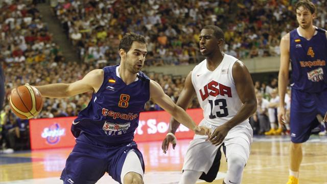 US rally to edge Spain in last warm-up