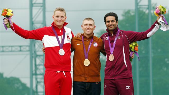 Hancock retains Olympic men's skeet gold
