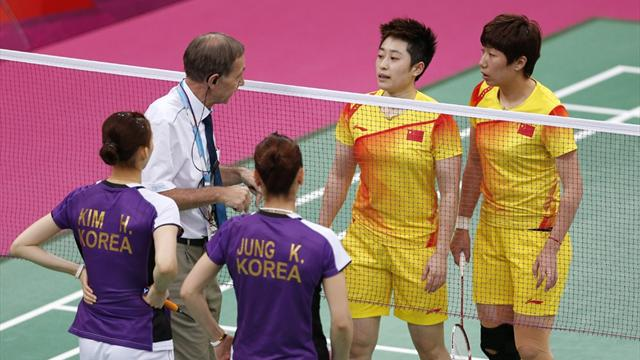 Eight Olympic badminton players disqualified