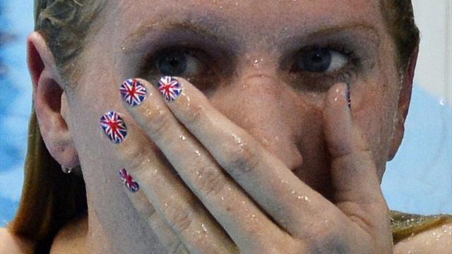 Adlington through, men out in Olympic heats