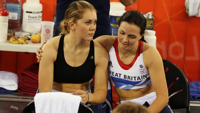Great Britain women thrown out of team sprint