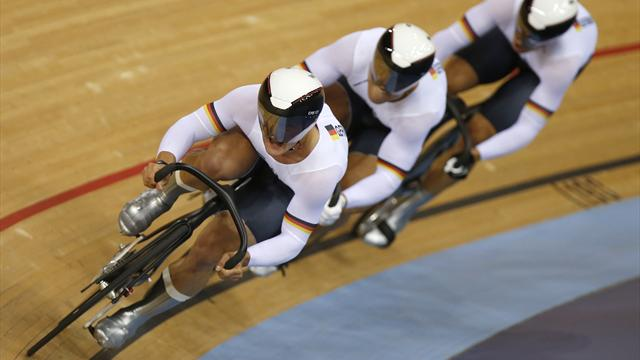 Germany win team sprint gold after China DQ