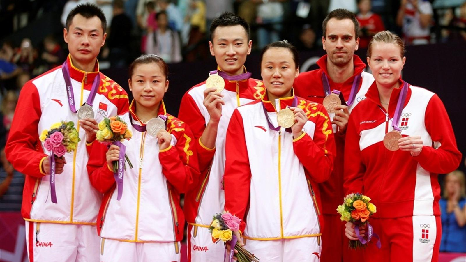 China win mixed doubles Olympic Games 2012 Badminton