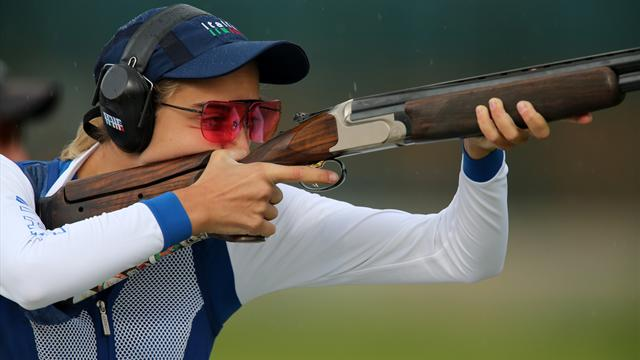 Gold and new WR for Rossi in Olympic trap shooting
