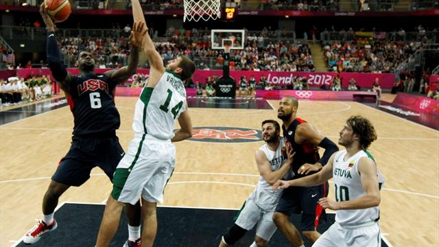 US battle to close Olympic win over Lithuania