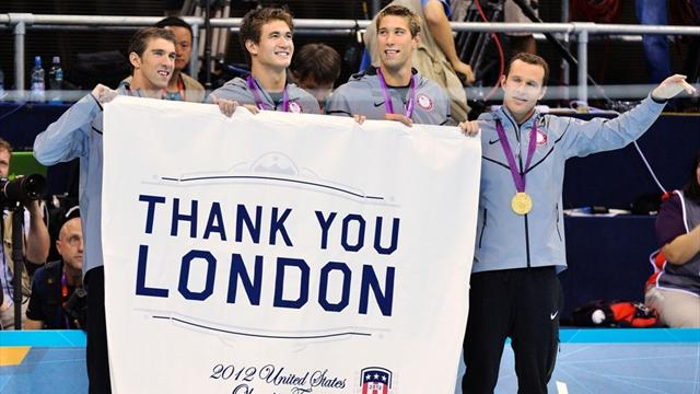 Two Olympic medley golds for US as Phelps bows out