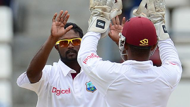 Windies close in on win after spinning out NZ