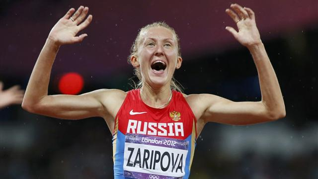 Russia's Zaripova stripped of London steeplechase gold medal