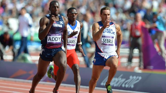 Sebrle retires hurt after Olympic decathlon 100m