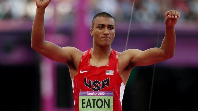 Eaton powers to halfway decathlon lead