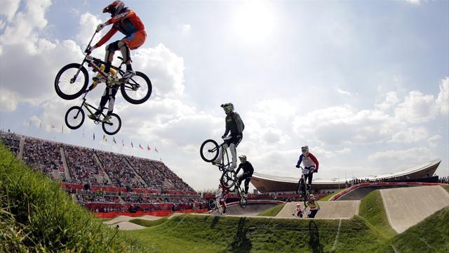 Phillips into Olympic BMX semis, van der Biezen tops heat