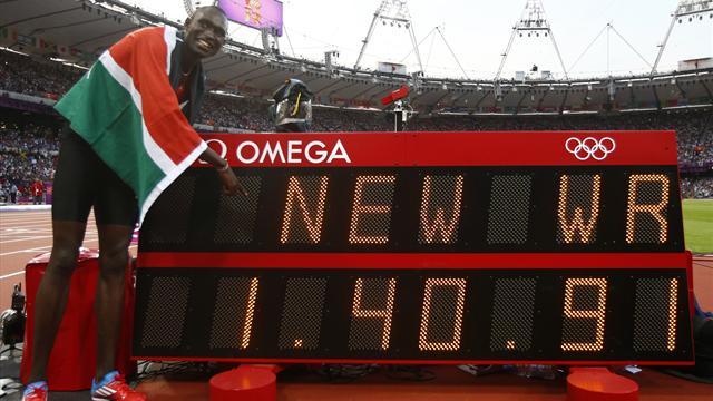 Rudisha sets new WR for Olympic 800m gold