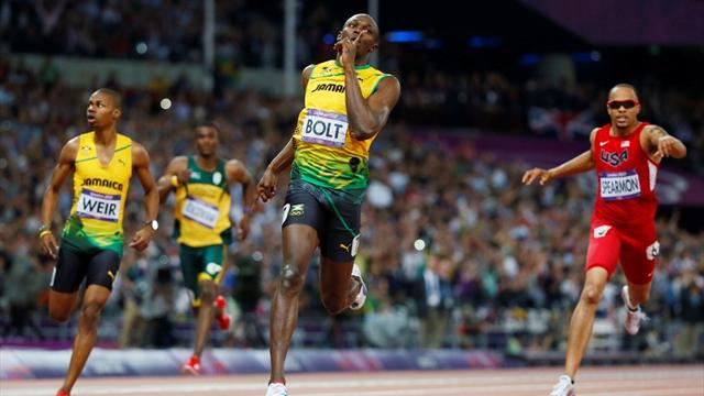 Bolt claims historic 200m gold at Olympics