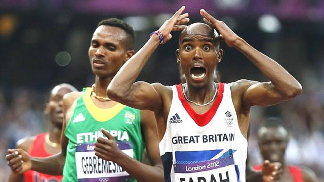 Farah wins 5,000m to seal Olympic double