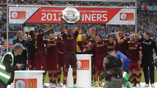 City down 10-man Chelsea to lift Community Shield
