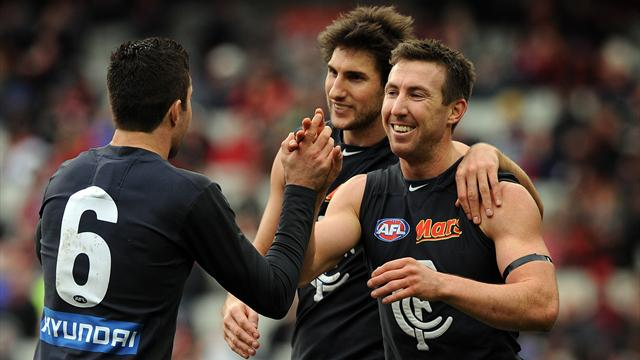 Blues thrash Bombers by 96 points