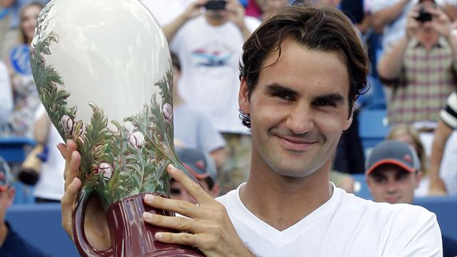 Federer beats Djokovic for record fifth Cincinnati title