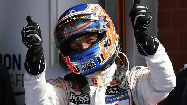 Button takes first pole since 2009 as Vettel flops at Spa