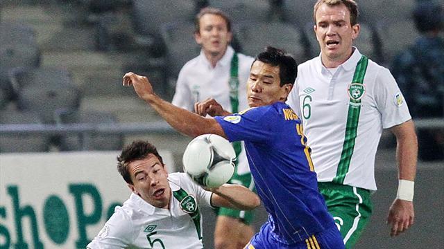 Late, late show sees Ireland edge past Kazakhstan