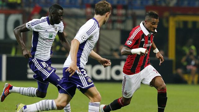 Anderlecht hold frustrated Milan