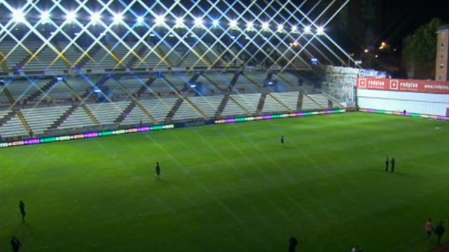 Real game at Rayo off after lighting sabotage