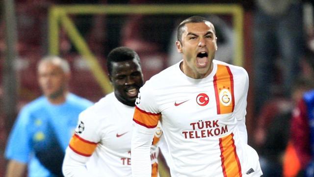 Burak hat-trick inspires Galatasaray victory