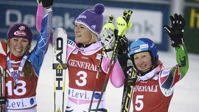 Hoefl-Riesch overcomes hip injury to win Levi slalom