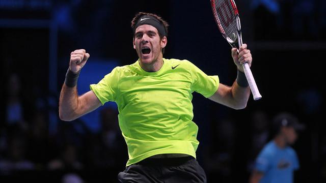 Del Potro downs Federer to make semis