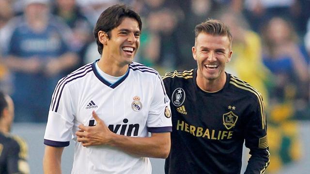 Beckham aids Galaxy in Kaka bid