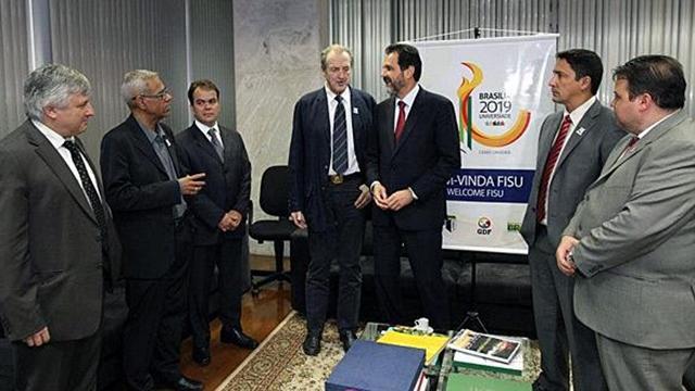 Les délégués de la FISU en visite au Brésil