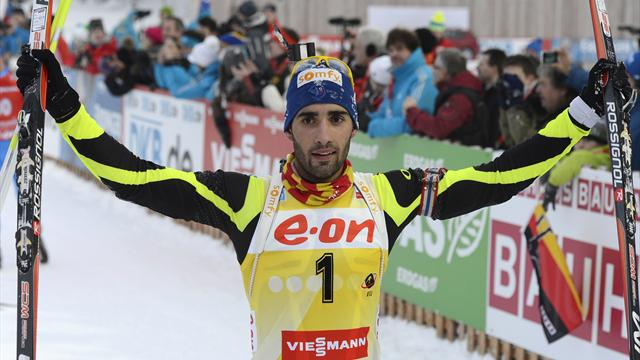 Fourcade completes clean sweep in Ruhpolding