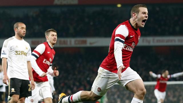 Wilshere strikes late as Arsenal see off Swansea