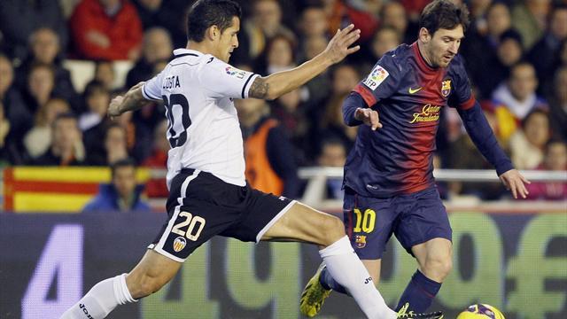Valencia hold Barcelona despite Messi goal
