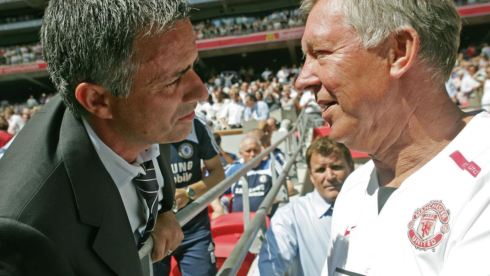 José Mourinho und Sir Alex Ferguson