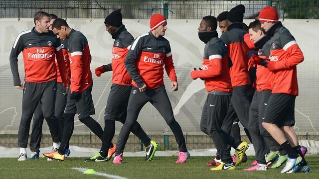 Beckham enfin à l'entraînement avec le PSG