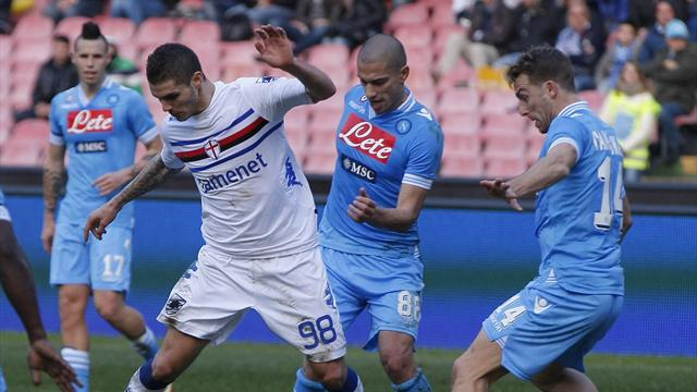 Napoli frustrated as Sampdoria hold firm