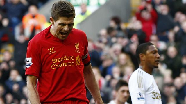 Liverpool smash five past second-string Swansea