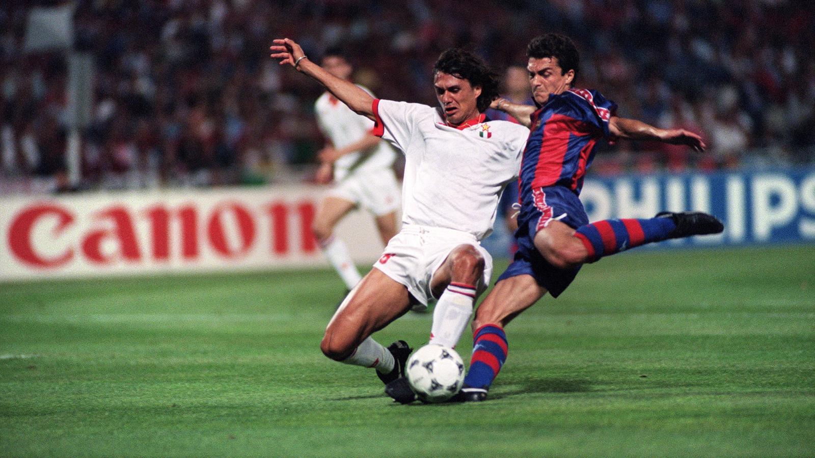 Champions League 1994 Milan Barcelona Maldini Nadal