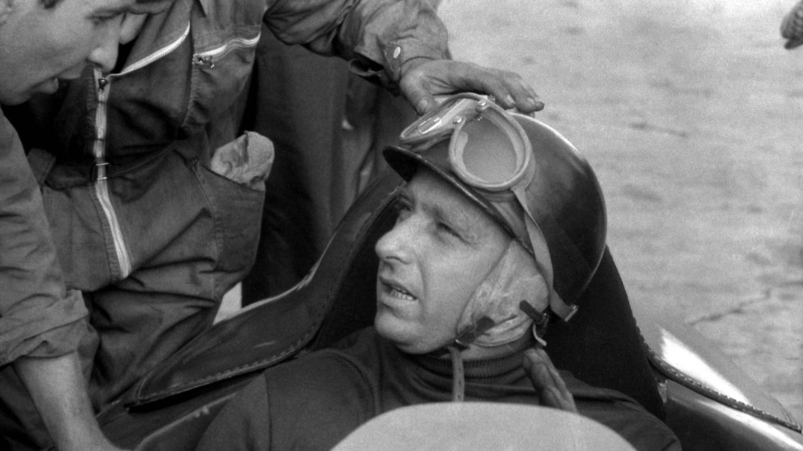 Juan Manuel Fangio (Ferrari) au Grand d'Allemagne 1956