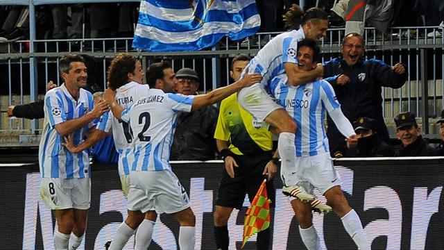 Santa Cruz fires Malaga past 10-man Porto