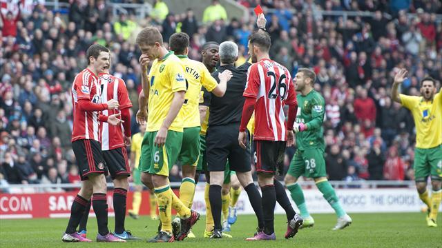 Handball controversy as Norwich hold Sunderland