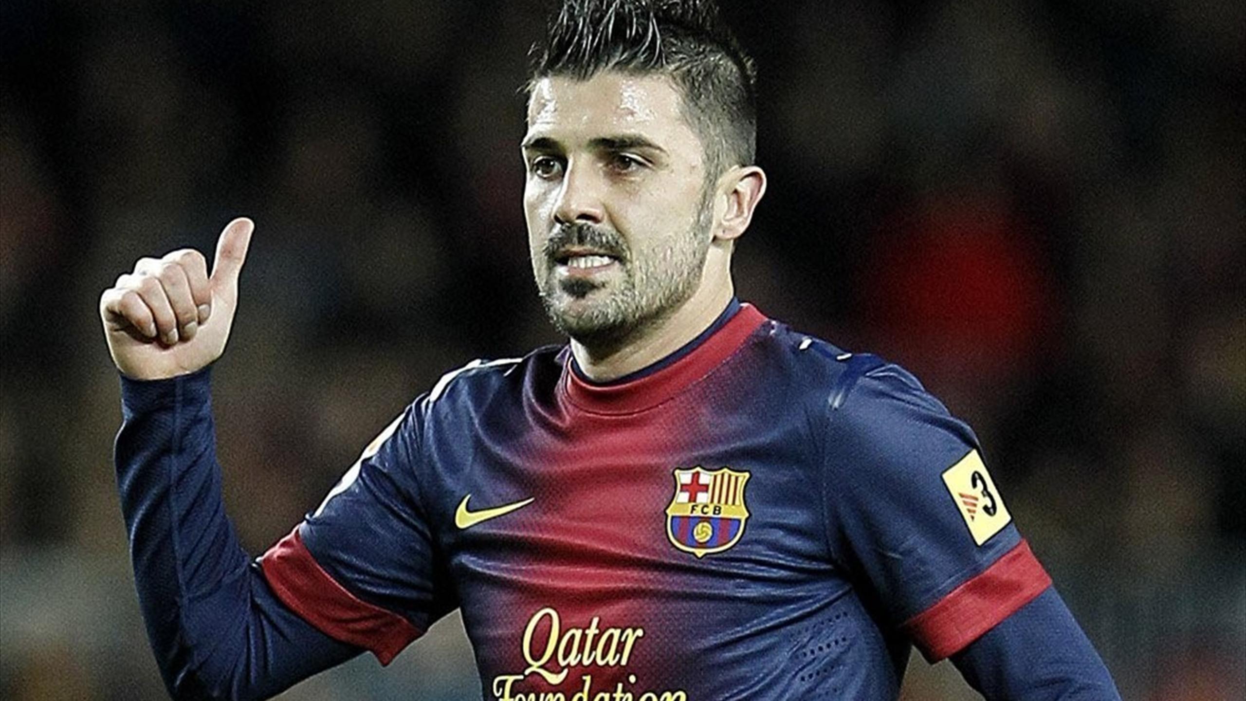 David Villa of Barcelona