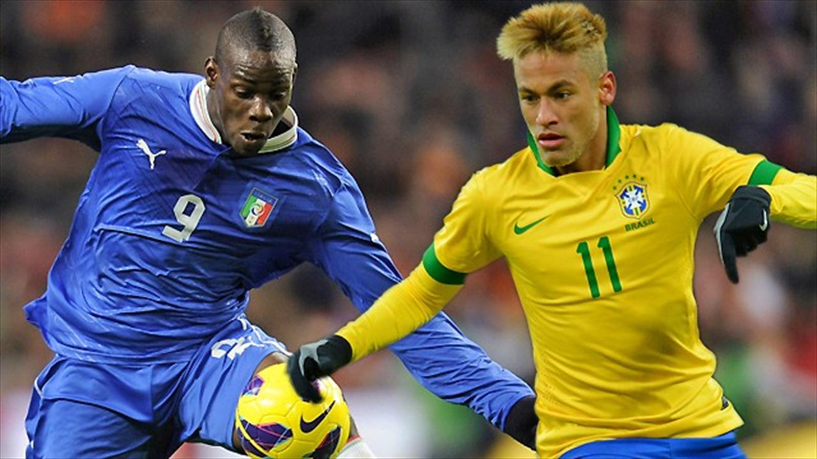 Brasilien italien duell der superstars balotelli und neymar