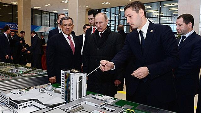 """Poutine: """"Kazan, capitale sportive de la Russie"""""""